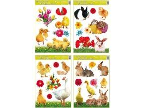 Velikonoční okenní fólie | živá zvířátka | 42x30cm | set 4ks