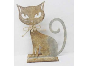 Kočka | kovová dekorace