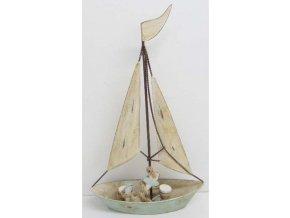Plachetnice s kotvou | kovová dekorace