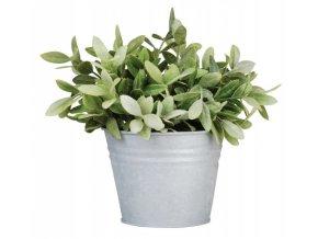zinkový květináč
