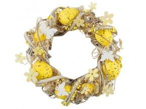 Velikonoční věnec   žlutý   22cm