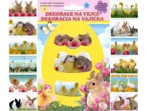Dekorace na vejce | smršťovací | živá zvířátka | 12ks