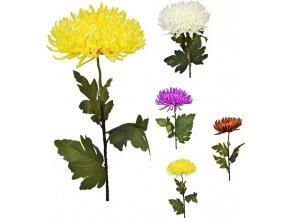 Umělá květina chryzantéma 80 cm, mix barev