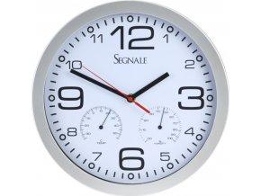Nástěnné hodiny s teploměrem a vlhkoměrem 30 cm, bílé