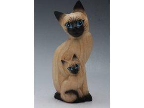 Figurka | Kočky | 2 Druhy | Dřevo