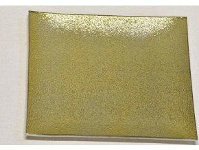 Skleněný tác  24,5 x 24,5 cm, zlatý s perletí