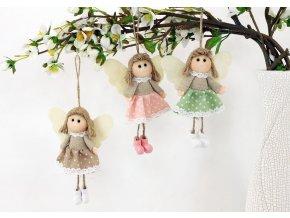 Andělka látková na pověšení | 3 druhy