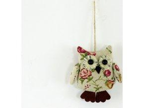 Sovička | textilní dekorace na zavěšení