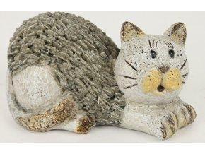 Kočka ležící | dekorace polyresin