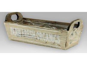 Truhlík dřevěný | igelitová vložka | 30x13x10cm