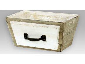 Truhlík dřevěný | igelitová vložka | 20x10x12cm