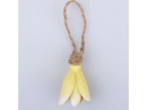 Závěsná kytička žlutá 2,5×4×2,5cm