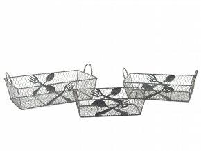 Košíky na servírování 3ks