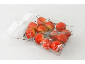 Jablíčko plastové | červený melír | set 12ks | 3cm