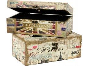 Krabička na kapesníčky | Paříž | Londýn
