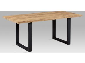 Jídelní stůl | 180x90cm | 3D folie dekor dub | černý kov