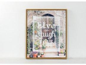 Obraz plátěný v rámečku | Live laugh Love