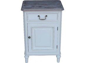 Noční stolek | Provence | bílý | 70x45x35cm