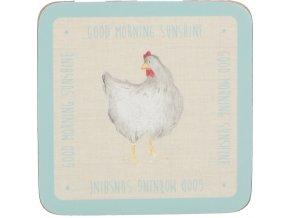 Korkové podložky | se slepicemi | Feather Lane | 10cm