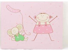 Dětský obrázek | s myškou a panenkou