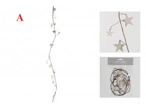 Závěsná dekorace hvězda | dřevo | drát | 118cm