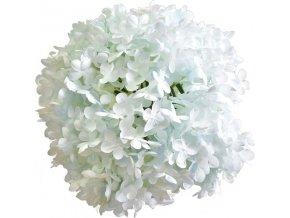 Hortenzie dekorační koule   světle modrá   plast   25cm