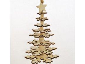 Vánoční stromeček   dřevěný   krémový