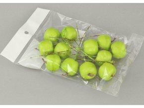 Sada jablíček s drátkem | zelené | polybag | 12ks