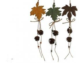 Závěsná dekorace - javorový list, L