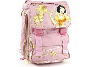 Školní batoh Princess na přezky | růžový | Sněhurka