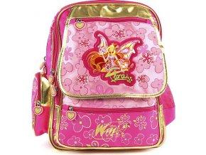 Školní batoh Winx Club | růžovo-zlatý | víla Flora