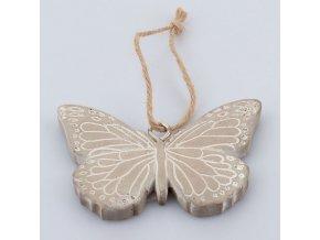 Závěsný motýlek z betonu 12×8×1cm