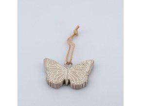 Závěsný motýlek z betonu 8×5,5×1cm