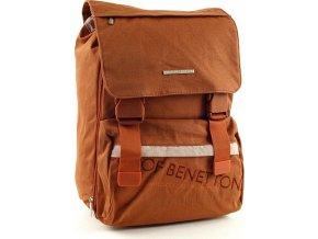 Školní batoh Benetton na přezky oranžová