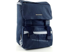 Školní batoh Benetton na přezky modrá