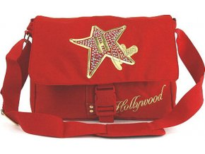 Taška přes rameno | Hollywood Star | červená | 28x38x8cm