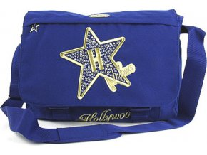 Taška přes rameno | Hollywood Star | modrá | 28x38x8cm