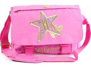 Taška přes rameno | Hollywood Star | růžová | 38x28x8cm
