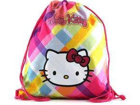 Sportovní vak Hello Kitty | žluté kostky
