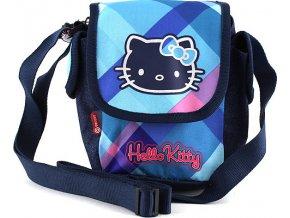 Taška přes rameno | Hello Kitty | modré kostky