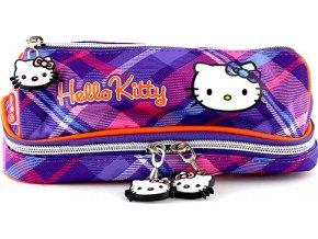 Školní penál | Hello Kitty | bez náplně | fialové kostky