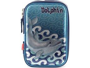 Target | Školní penál s náplní | Dolphin modrý