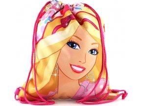 Sportovní vak Barbie | růžový | motiv květin