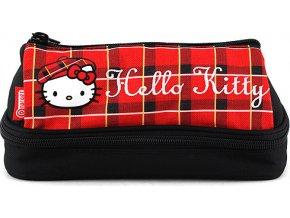 Školní penál Hello Kitty | červeno-černý