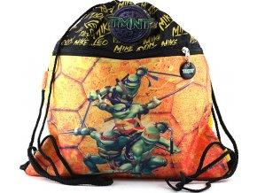 Sportovní vak | Želvy Ninja | černo-žlutý