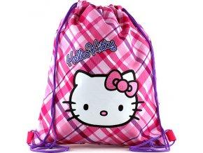 Sportovní vak Hello Kitty růžové kostky