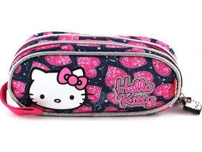 Školní penál Hello Kitty | modrý | motiv Jeans