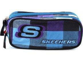 Školní penál Skechers | elipse | modrý