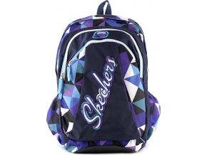 Studentský batoh Skechers | modro-fialové kostky