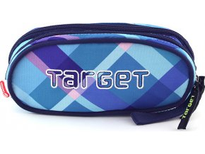 Školní penál Target | Modro-fialové kostky